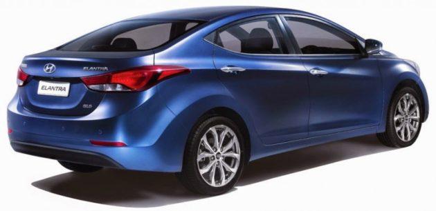 bagian belakang New Hyundai Elantra Facelift
