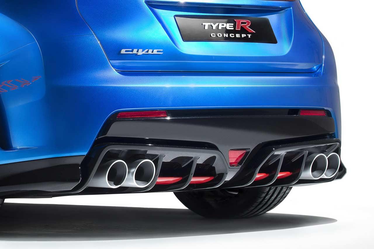 Honda, 2015 Honda Civic Type R Rear Difusser: 2015 Honda Civic Type R Concept Akan Lebih Ganas Dari NSX Type R