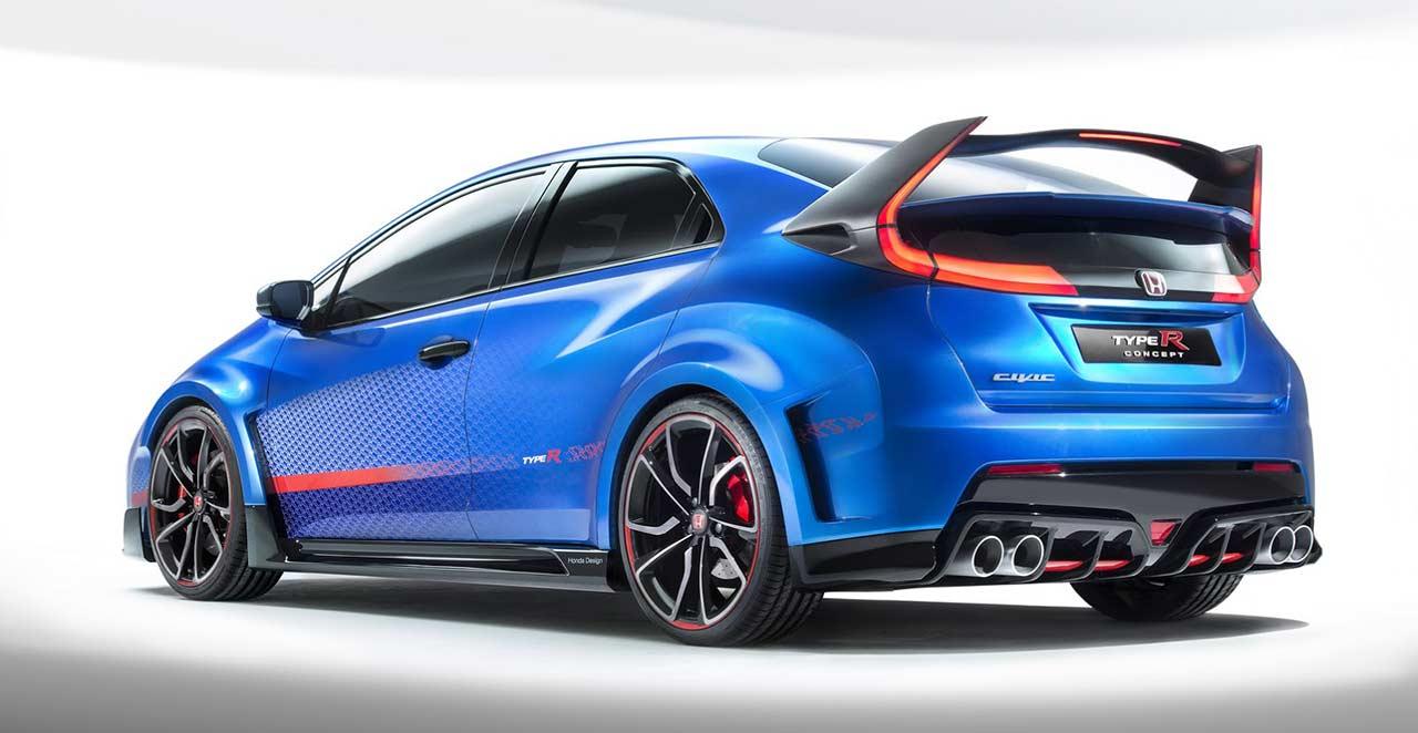 Honda, 2015 Honda Civic Type R Rear Wings on Blue Painted Body: 2015 Honda Civic Type R Concept Akan Lebih Ganas Dari NSX Type R