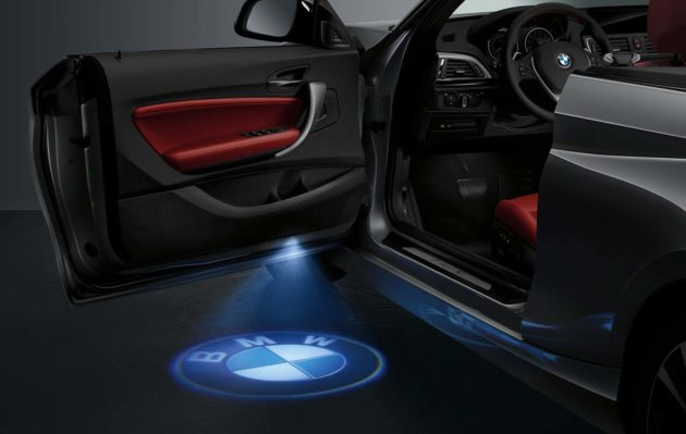 BMW-2-Series-Convertible-Puddle-Lamp-BMW-Logo
