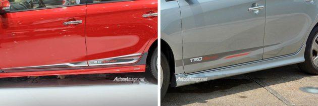 Beda sticker TRD Sportivo pada bodi Vios Indonesia dan Malaysia