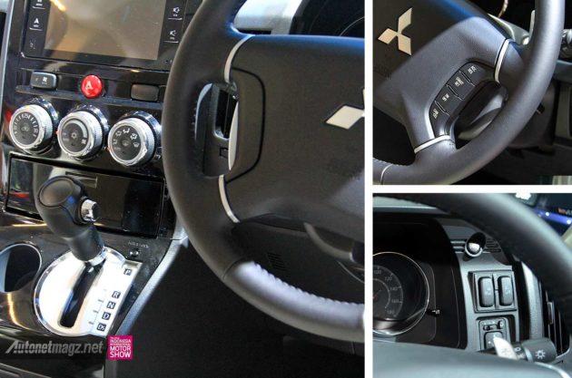 Fitur dan tombol cruise control di setir Mitsubishi Delica
