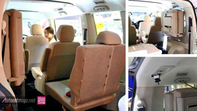 Model pelipatan jok belakang Mitsubishi Delica