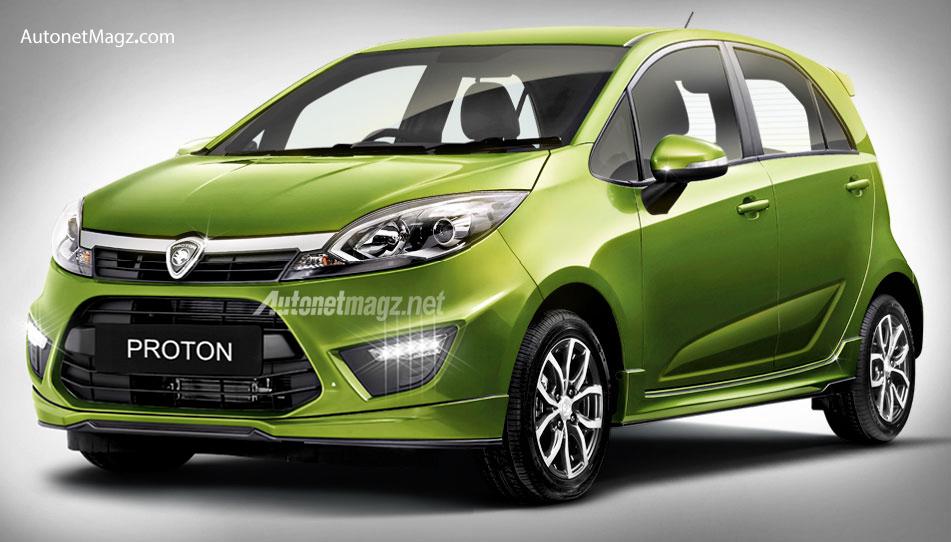 PROTON IRIZ city car baru Proton pesaing Honda Brio dan Toyota Agya