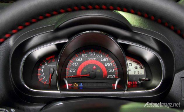 Speedometer Perodua Axia fitur
