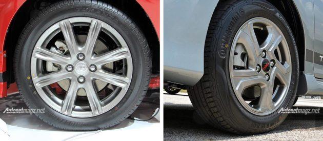 Velg OEM Toyota Vios TRD Sportivo versi Indonesia dan Malaysia ternyata ber beda