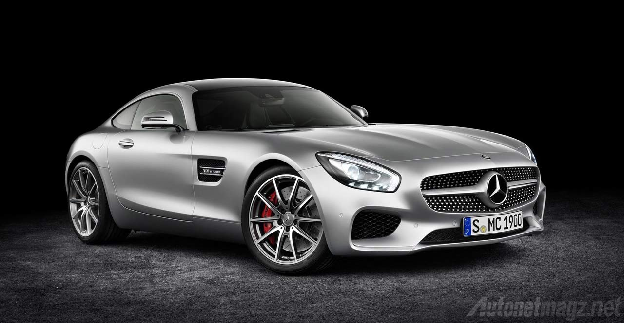 Wallpaper Mercedes Benz AMG GT Silver