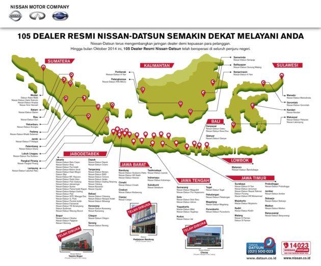 Daftar alamat dealer dan bengkel resmi Nissan Indonesia