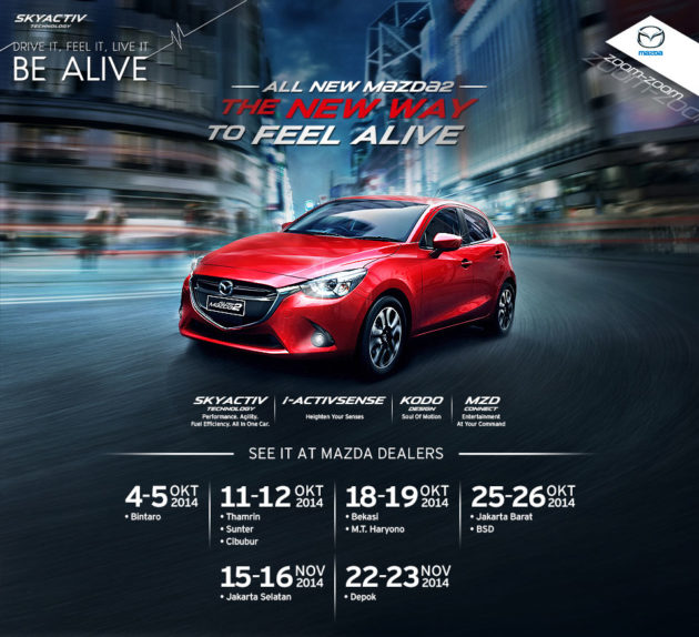 Mazda2 SkyActiv preview Indonesia launching All New Mazda 2 baru