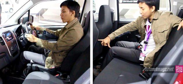 Posisi duduk di ruang kabin LCGC Suzuki Karimun Wagon R GS