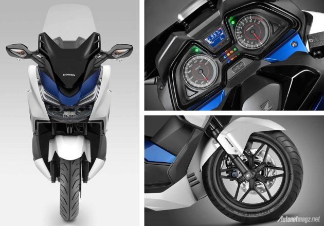 Speedometer dan rem cakram ABS skuter matik Honda Forza 125 tahun 2015