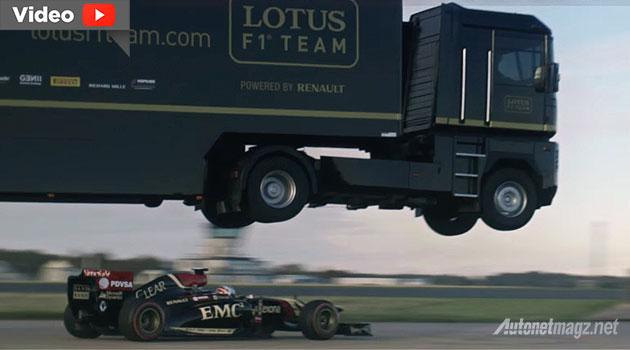 Atraksi truk paling menantang hebat rekor guiness world of record truk lompat