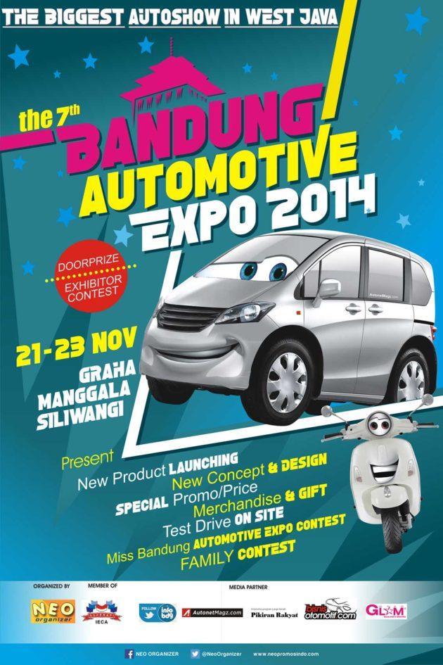 Desain poster Bandung Automotive Expo 2014 Indonesia pameran otomotif Bandung