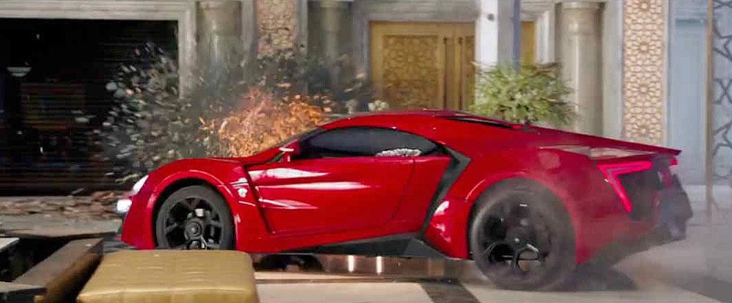 Mobil sport di film Fast Furious 7 merk Lykan Hypersport