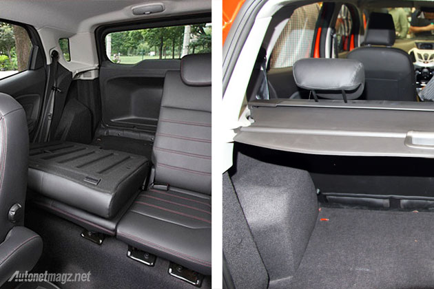 Split seat and rear tray luggage Ford EcoSport