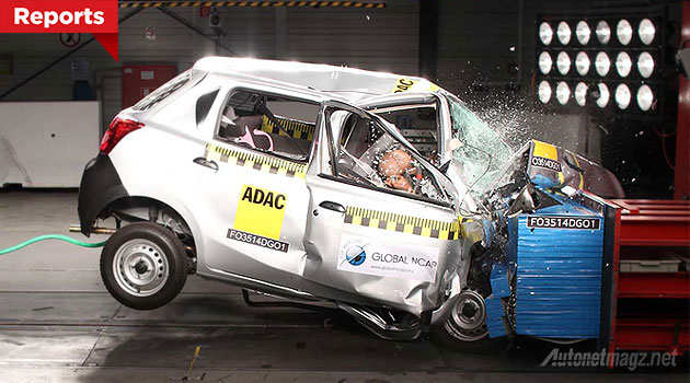 Tes tabrak Datsun GO crash test