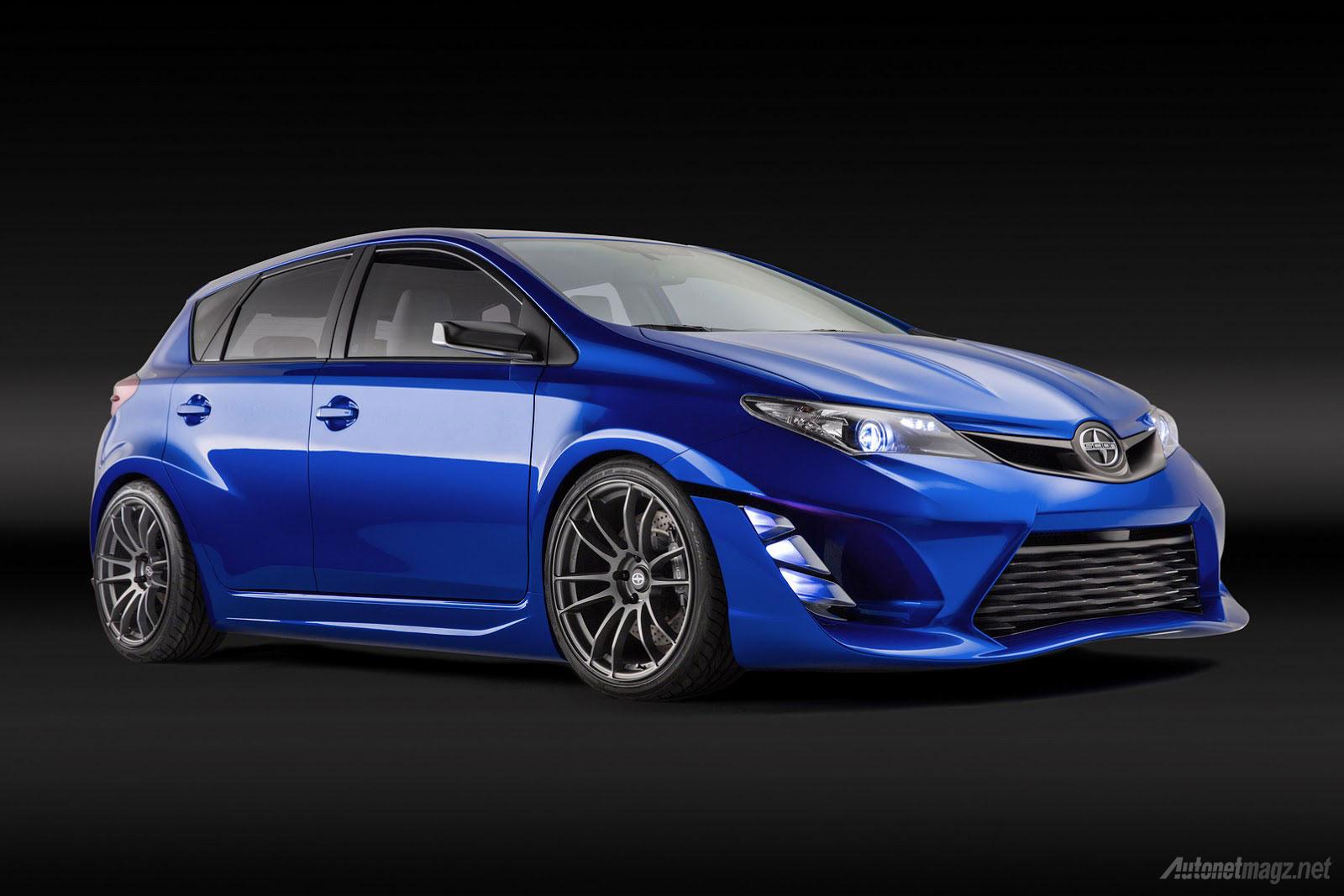 Wallpaper mobil hatchback baru Scion iM Concept 2015 yang satu platform dengan Toyota Auris
