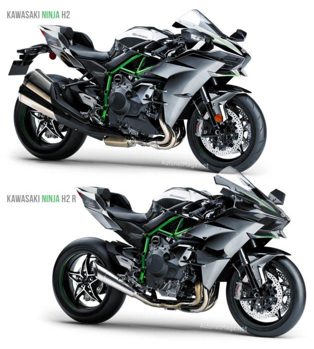 Perbedaan Kawasaki H2 dengan Kawasaki Ninja H2 R