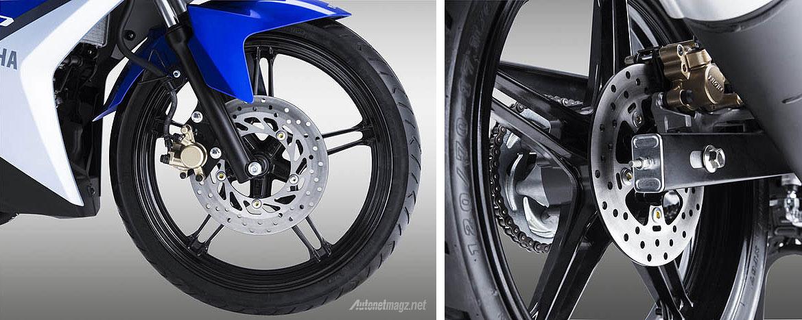 Rem cakram depan 245mm belakang 203mm Yamaha Exciter alias Jupiter MX baru 150 cc 2015