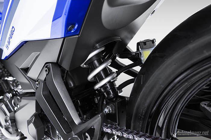 Suspensi monoshock Yamaha Exciter alias Jupiter MX baru 150cc 2015