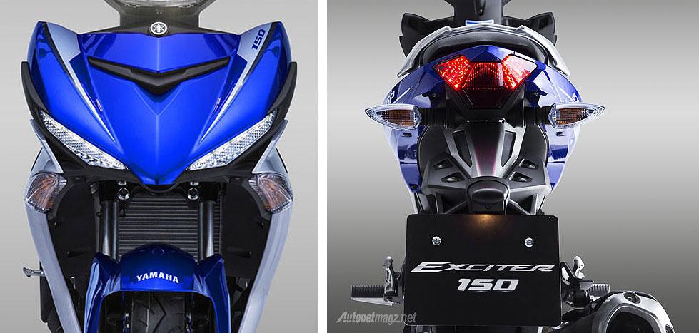 Yamaha Exciter alias Jupiter MX baru 150 cc 2015 tampak depan dan belakang