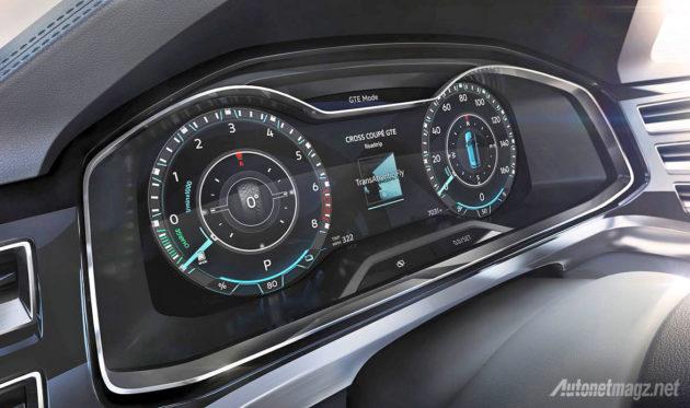 Dashboard speedometer Volkswagen Cross Coupe GTE Concept