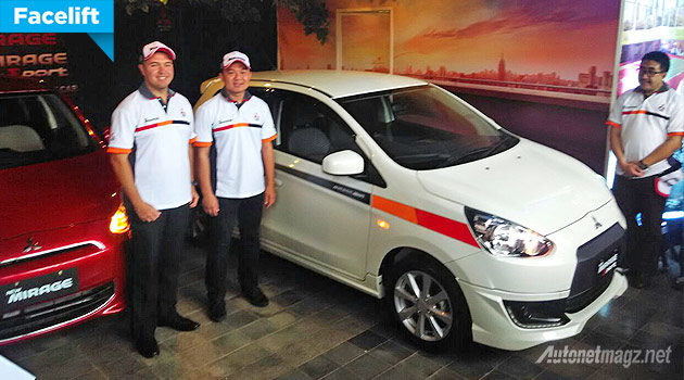 Mitsubishi Mirage baru facelift new 2015