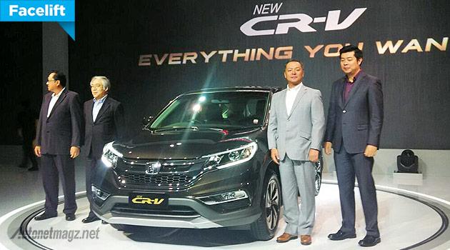 Honda, New Honda CR-V facelift 2015 versi Indonesia: Harga Honda CR-V Facelift Tembus 477,5 Juta Rupiah!