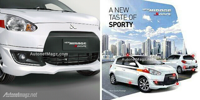 New Mirage Sport 2015 Mitsubishi Mirage baru Indonesia