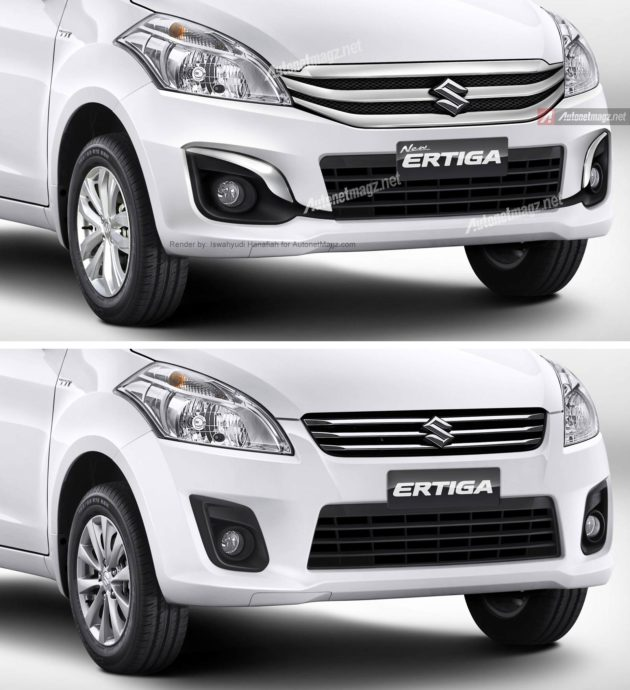 Perbedaan Ertiga facelift baru 2015 dengan Ertiga lama