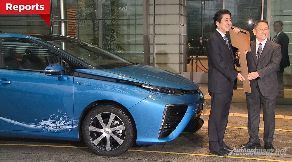 Berita, pengiriman-pertama-toyota-mirai: Pemesan Pertama Toyota Mirai Ternyata Perdana Menteri Jepang