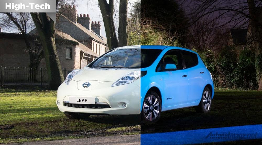 Nissan-Leaf-cat-menyala-dalam-gelap