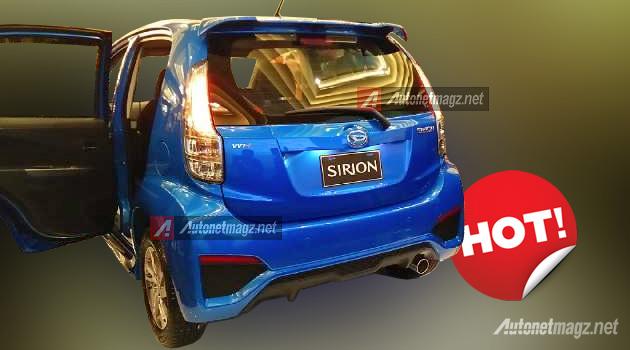 Sirion 2015 tampak belakang facelift