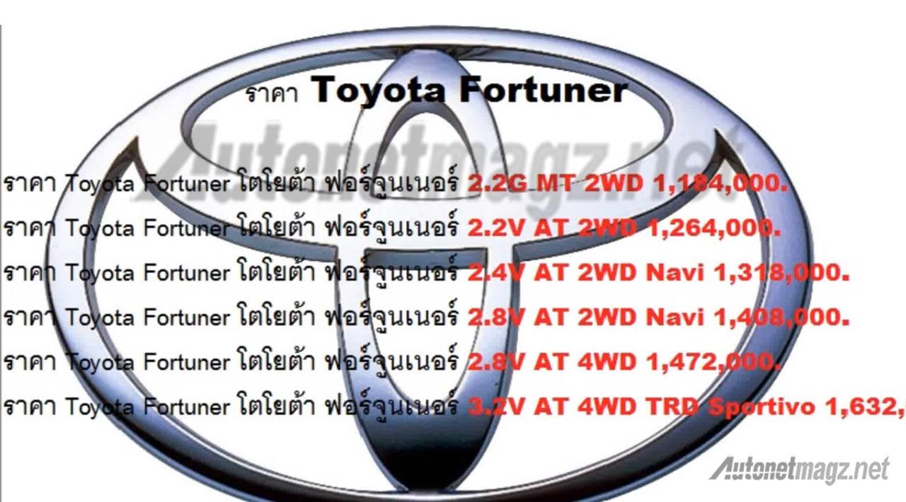 bocoran-harga-toyota-fortuner-thailand