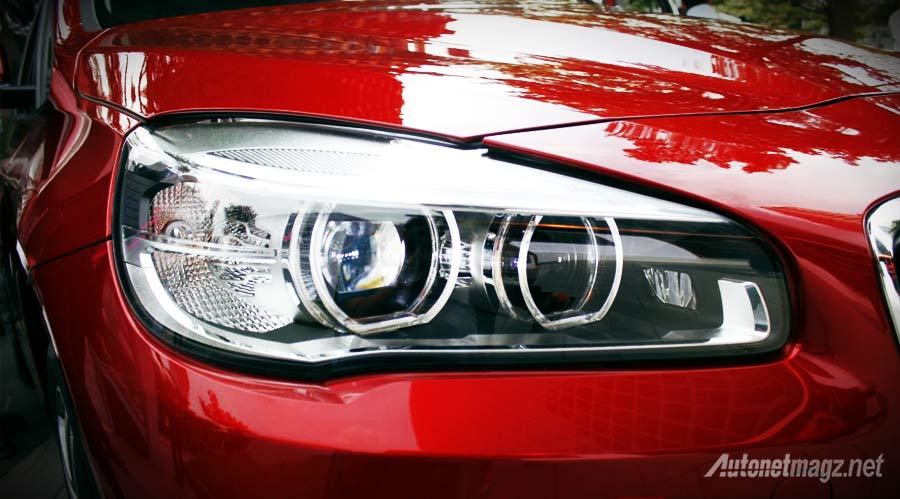 Berita, headlamp-BMW-2-series-active-tourer: First Impression Review BMW 2 Series Active Tourer oleh AutonetMagz