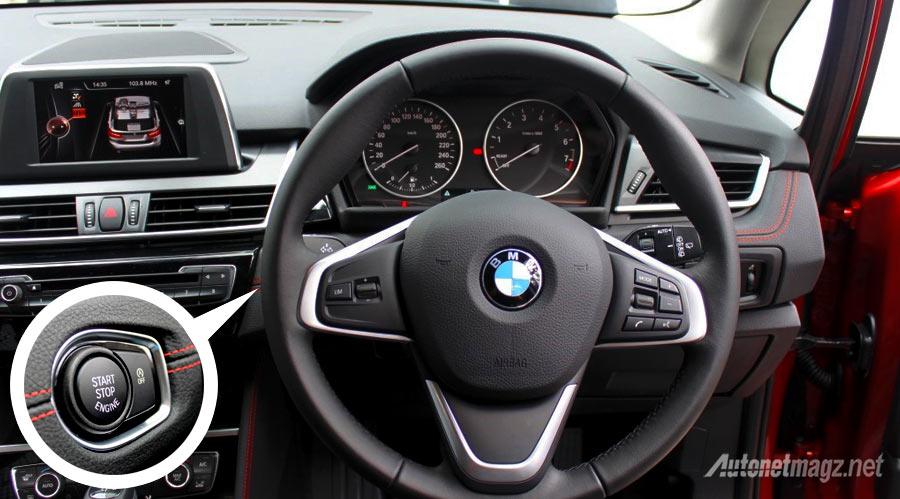 Berita, setir-dan-tombol-start-BMW-218i-Active-Tourer: First Impression Review BMW 2 Series Active Tourer oleh AutonetMagz