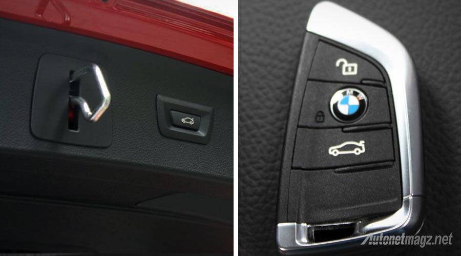 Berita, tombol-bagasi-elektrik-BMW-218i-Active-Tourer: First Impression Review BMW 2 Series Active Tourer oleh AutonetMagz