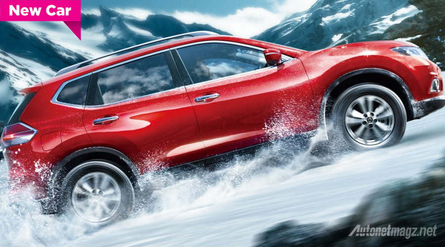 Nissan-X-trail-hybrid-merah