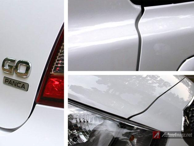 Gap jarak pada panel bodi mobil LCGC Datsun GO Panca