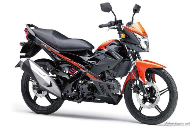 Kawasaki Athlete Pro versi terbaru 2015 warna orange hitam