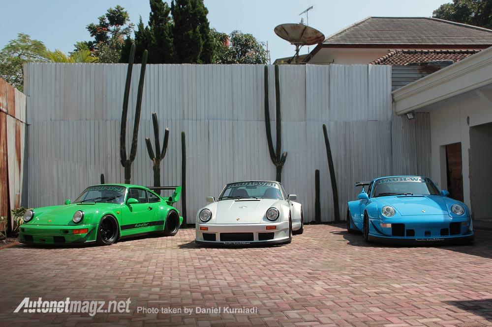 Porsche RWB Indonesia hasil modifikasi custom Akira Nakai san di bengkel Terror Garage Bandung