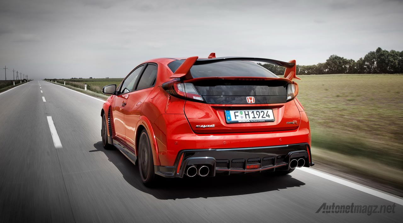 Honda-Civic-Type-R-turbo-red-rear