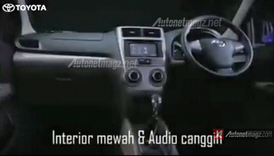 Interior dashboard audio Grand New Avanza