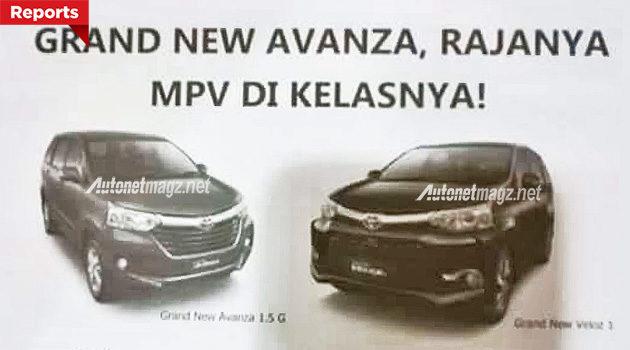 Toyota Avanza baru dan New Avanza Veloz 2015 facelift