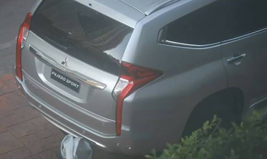 spy shot all new mitsubishi pajero sport belakang