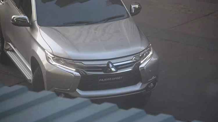 spy shot mitsubishi all new pajero sport front