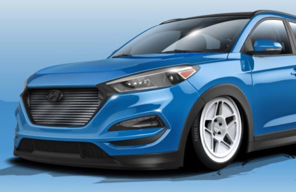 Honda, Hyundai-Tucson-Bisimoto-front-SEMA-SHOW-2015: Hyundai Bekerjasama Dengan Bisimoto Membangun Tucson 700 HP Untuk SEMA SHOW