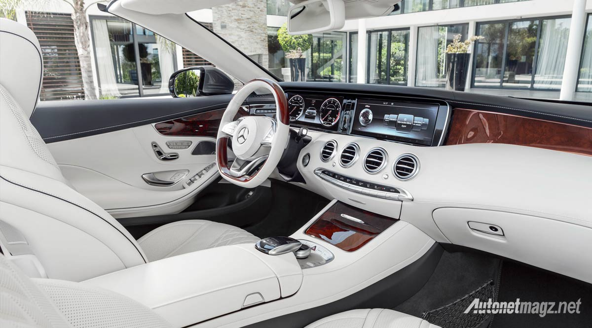 Berita, interior-mercedes-benz-s-class-cabriolet-putih: Mercedes Benz S Class Cabriolet Akhirnya Dirilis : Top Down, Level Up