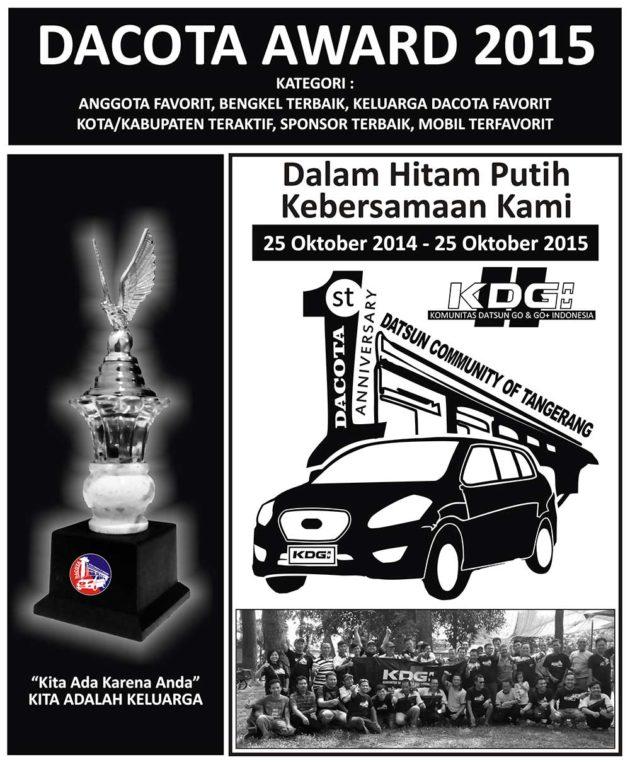Datsun GO GO+ Community Tangerang Dacota HUT 1 Award