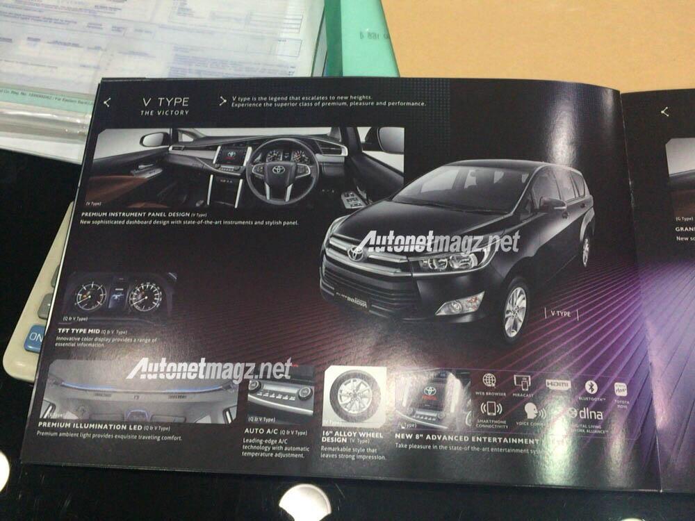 Berita, brosur all new toyota kijang innova tipe v: Akhirnya Brosur All New Toyota Kijang Innova 2015 Versi Indonesia Bocor, Ini Dia Fitur dan Spesifikasinya!